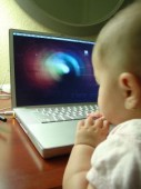 Baby on Computer